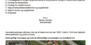 thumbnail of Indkaldelse til ordinær generalforsamling 02 06 2021